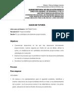GUION DE TUTORÍA PROPORCIONALIDAD