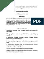 perancangan Strategik PERSATUAN PSK 2011