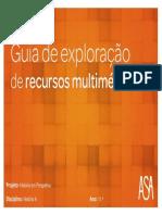 Guia de exploração de recursos multimédia  perspetivas da História 11º ano Asa editores