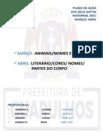PLANO DE AÇÃO MATERNAL 03/2021