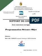 Cours Programmation Objet Avec TD Corrigés