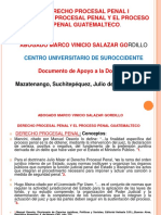 2) Presentación Derecho Procesal Penal y El Proceso Penal Guatemalteco. Julio 2018
