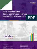 eBook Guia de Entrevistas, Testes e Dinâmicas de Grupo Para Aplicar No Processo Seletivo (1)