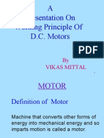 working principle of dc motor