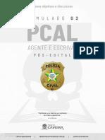 2ª Simulado Completo - PCAL 2021 (Pós-Edital) - Projeto Caveira