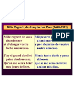 Mille Regretz, Power Point