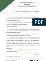REFLEXÃO DA UFCD –  ENCERRAMENTO ANUAL DE CONTAS