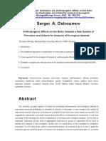 Anthropogenic effects on the biota