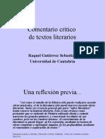Comentario crítico de textos literarios