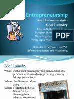 Entrepreneurship Small Business Analysis