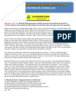 Allahabad Bank Clerk Exam Solved Papers 2010- English - TheOnlineGK