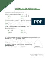 Banco Questoes 10 Ano 3 - Funcoes e Estatistica