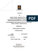 institute management system report