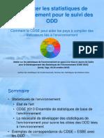 Renforcer Les Statistiques de l'Environnement Pour Le Suivi Des ODD