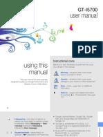 Samsung i5700 User Manual