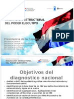 Proyecto Reforma Estructural del Estado Paraguayo (Breve presentacion diagnóstico nacional)  Abril 2011