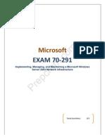 Prep Cram Microsoft 70-291 Practice Test