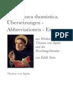 27 EdithSteinGesamtausgabe MiscellaneaThomistica UebersetzungenAbbreviationenExzerpte