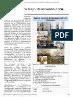 Guerra contra la Confederación Perú-Boliviana (1836 - 1839)
