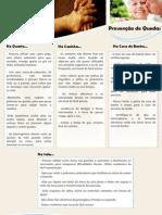 Folheto-Prevenção de Quedas nos Idosos