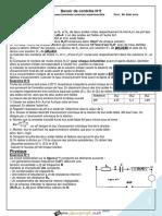 Devoir Corrigé de Contrôle N°2 - Sciences physiques - Bac Sciences exp (2014-2015) Mr Sdiri Anis