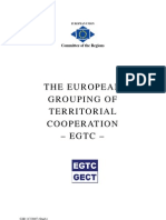 The European Grouping of Territorial Cooperation (EGTC)