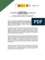 Conclusiones Finales Seminario Violencia Intrafamiliar y de Genero Sta Cruz de La Sierra Bolivia Mayo 2010