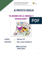 Informe Final Proyectos 10º b Ok