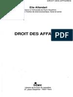 Droit Des Affaires Alfandari