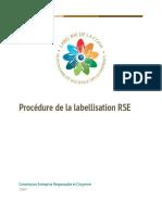 Procédure de labellisation