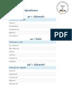 Verben mit Präpositionen b1