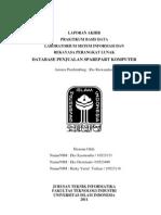 Laporan Basis Data Database Penjualan Sparepart Komputer