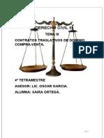 III.CONTRATOS TRASLATIVOS DE DOMINIO COMPRA-VENTA.D.C.III