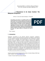 Tax tax Fairness Dimensions In An Asian Context The malaysian perspective