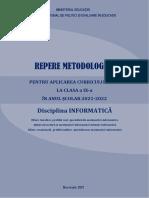 31 Repere Metodologice Informatica 0