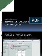Thatquizz Reporte de Calificaciones