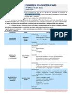 3SÉRIE - CRONOGRAMA DE PROVAS - 3BIM