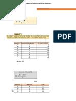 Excel -1.4. Medidas de Tendencia Central y de Dispersión Datos Ordenados (AF)