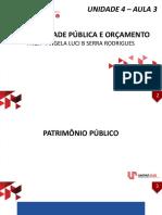Unidade IV - Aula 3 - Variações Patrimoniais (1)