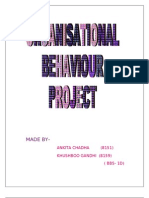Motivation-organisational behaviour