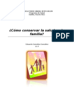 Cómo conservar la salud en la familia
