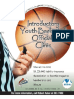 Youth Basketball Officials Clinic Flyer