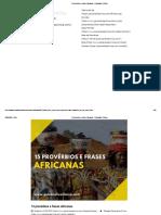 15 provérbios e frases africanas - Psicanálise Clínica
