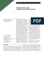 Neurologic status, cough, secretions and extubation outcomes