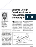 sesismic design considerations for precast concrete multi-storey buildings