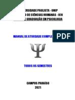 Manual de Atividades Complementares UNIP 2021