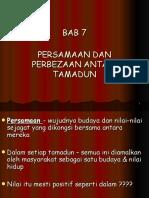 bab 7 -perbezaan & persamaan tamadun