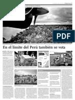 En el límite del Perú tambièn se vota