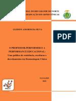 Livro Professor-performerpeformance Silva 2018