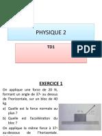 Physique 2 Td1-3
